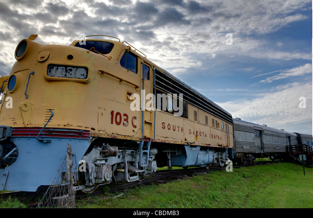 A Vintage Locomotive from the Wild West known as the South Dakota Central. - Stock Image
