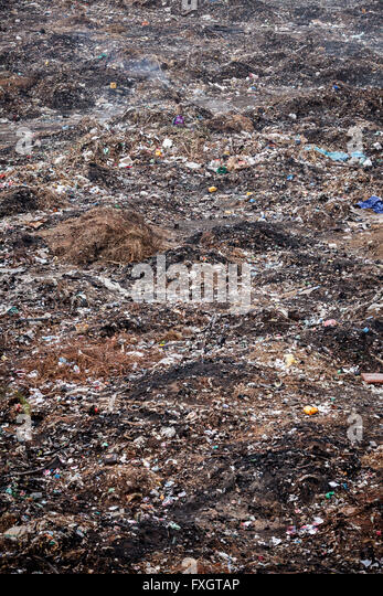 Mozambique, mountains of rubbish, garbage. - Stock Image