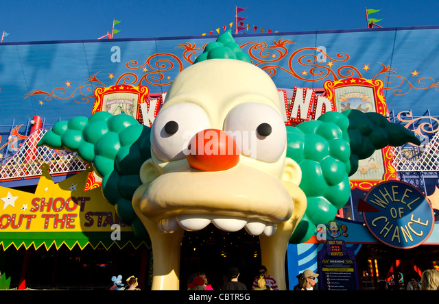Krustyland The Simpson's Ride at Universal Studios Orlando, Florida - Stock Image