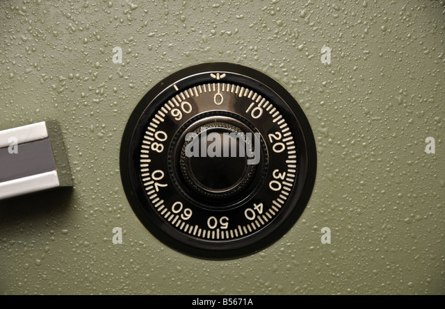 Safe dial - Stock Image