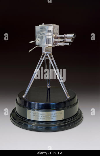 BBC Sports Personality Lifetime Achievement Award 2008 given to Sir Bobby Charlton and presented by his brother - Stock Image