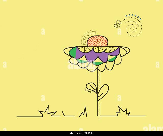 Flower illustration - Stock Image