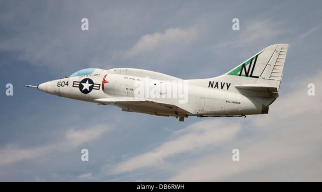 U.S. Navy Douglas A-4E Skyhawk attack aircraft - Stock Image