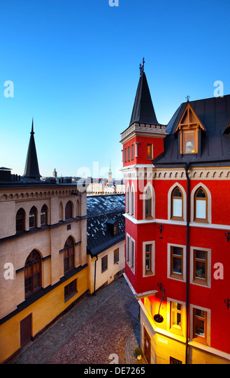 Buildings in Stockholm (Sweden) - Stock Image