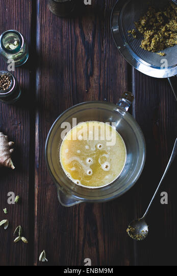 Preparation of a Mumbai Mule cocktail. - Stock Image