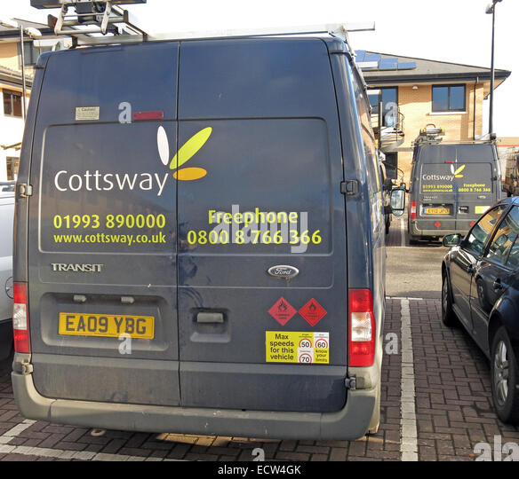 Cottsway Housing Association Van, Witney, West Oxfordshire, England, UK - Stock Image