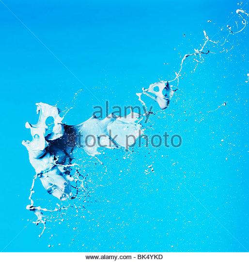 Paint splashing - Stock Image