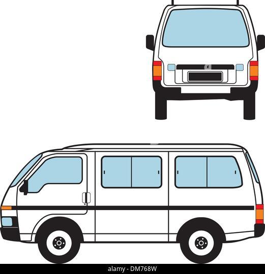 Minivan Car, Vector Shapes - Stock Image