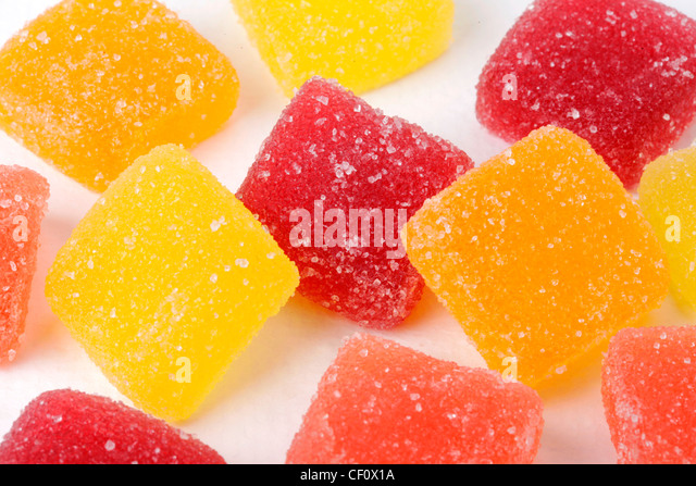 FRUIT JELLY CANDY - Stock Image