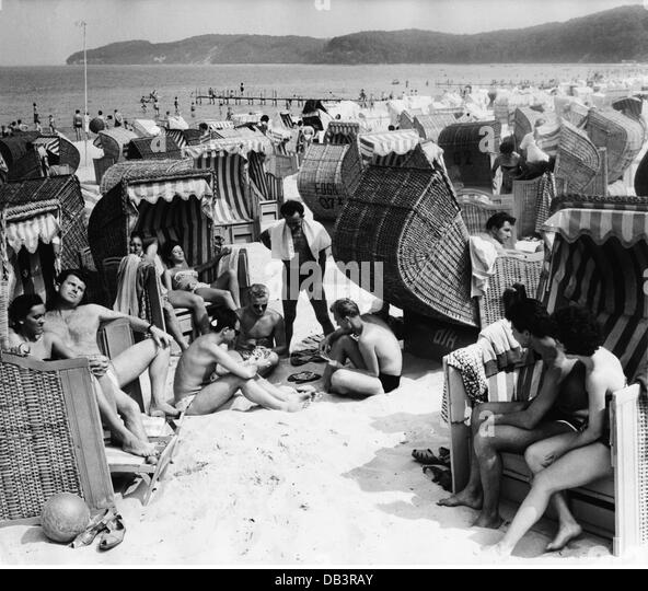History Timings Attractions Beach: Sea 1960s Seaside Stock Photos & Sea 1960s Seaside Stock
