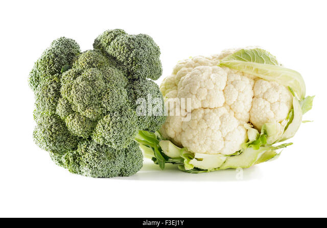 Broccoli and Cauliflower - Stock Image