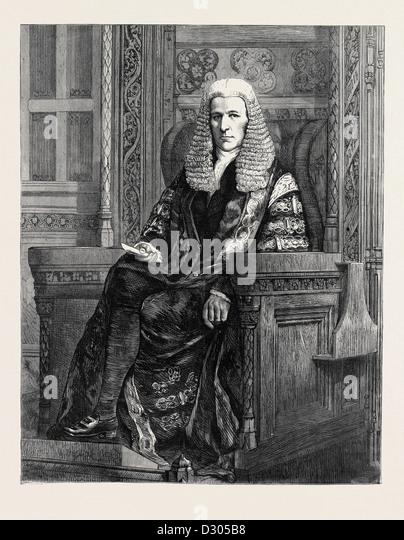 THE RIGHT HONOURABLE THE SPEAKER OF THE HOUSE OF COMMONS, 1870 - Stock Image