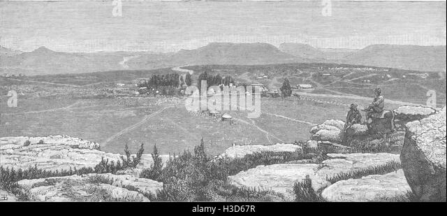 LESOTHO South Africa-Maseru, Lesotho 1881. The Graphic - Stock Image