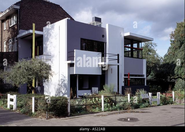 rietveld house utrecht stock photos rietveld house. Black Bedroom Furniture Sets. Home Design Ideas