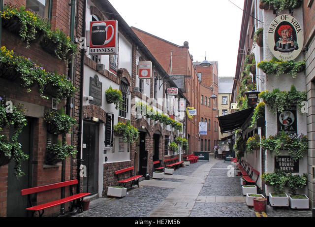 Duke Of York Pub,Belfast street - Stock Image