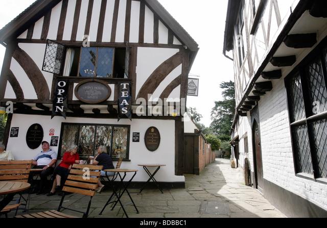 Oken's House tea shop in Warwick UK - Stock Image