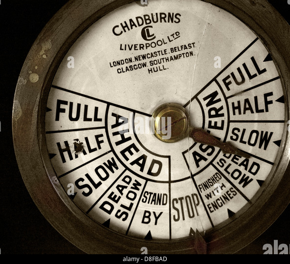 Chadburns Liverpool Ships power telegraph - Stock Image