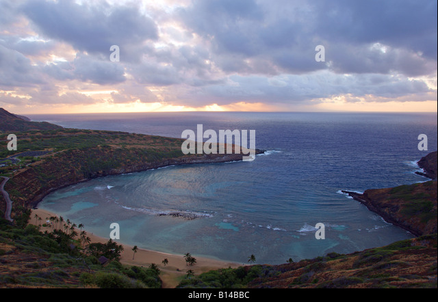 Hanauma Bay Sunrise - Stock Image
