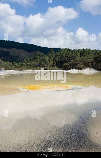Rotorua, Waiotapu thermal area, Artist's Palette - Stock Image