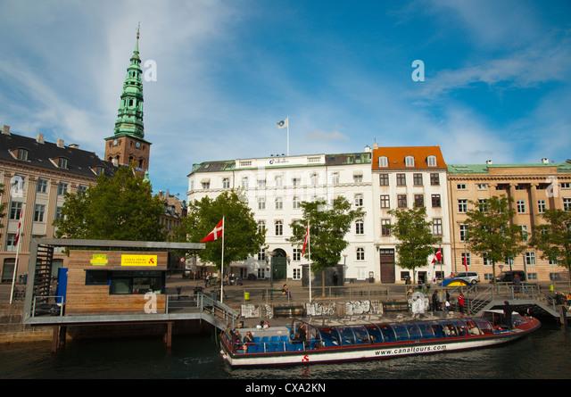Borsgraven canal central Copenhagen Denmark Europe - Stock Image