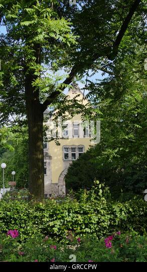 Nostalgic Alexandrinenbad In Coburg - Stock Image