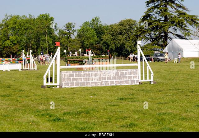 Show Jumping at the Brigstock International Horse Trials , Northamptonshire, England, UK 2009. - Stock Image