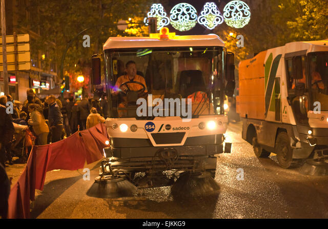 Street Sweeper Sweeping Pavement In Stock Photos Amp Street