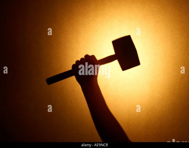 Hammer Hand - Stock Image