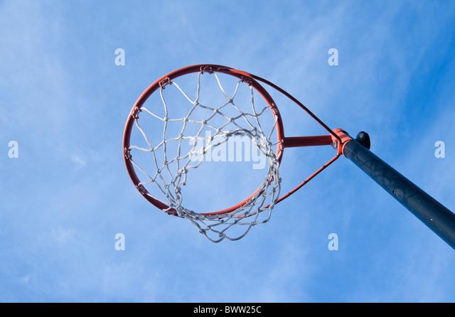 Netball hoop - Stock Image