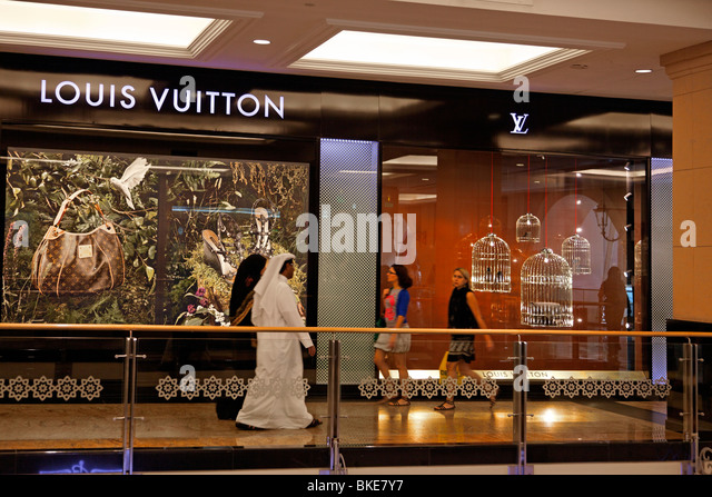 Louis Vuitton shop at Dubai Mall of Emirates shopping mall - Stock Image