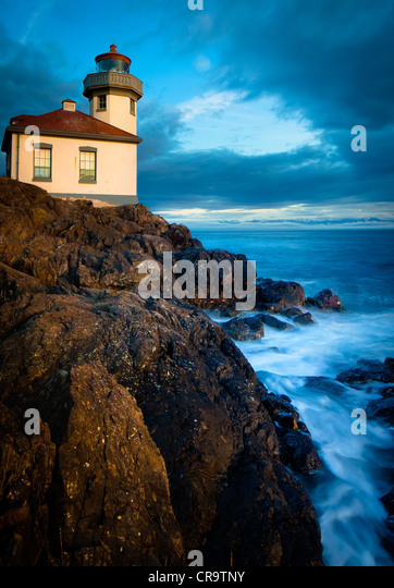 Lime Kiln lighthouse on San Juan Island, Washington - Stock-Bilder