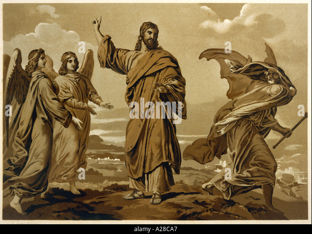 Jesus And Satan - Stock Image