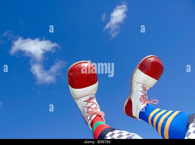 Clowns feet - Stock-Bilder