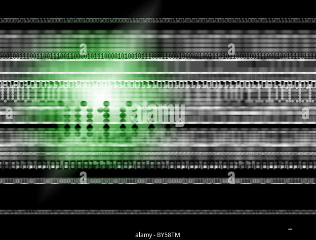 Green Light Illustration relating to data and web security - Stock-Bilder