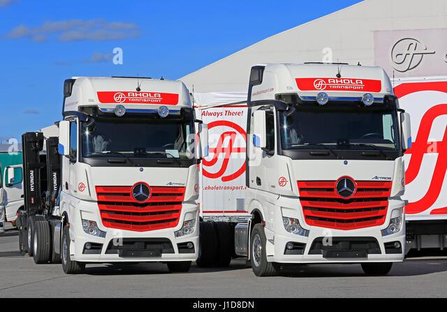 Mercedes benz truck in industrial stock photos mercedes for Mercedes benz winter event commercial