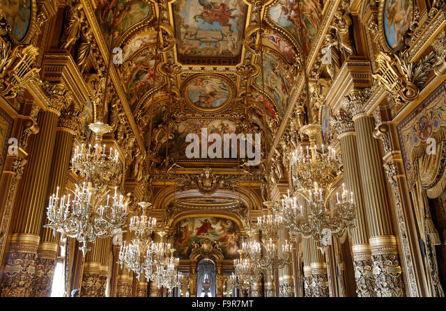The Grand Foyer Palais Garnier : Grand foyer palais garnier opera stock photos
