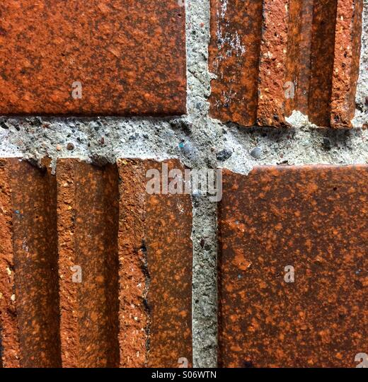 Brick wall detail - Stock Image
