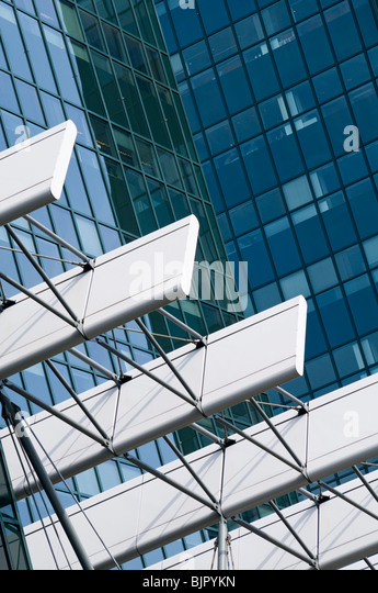 Abstract of office buildings in the Amsterdam Zuid area of the Dutch capital city - Stock Image