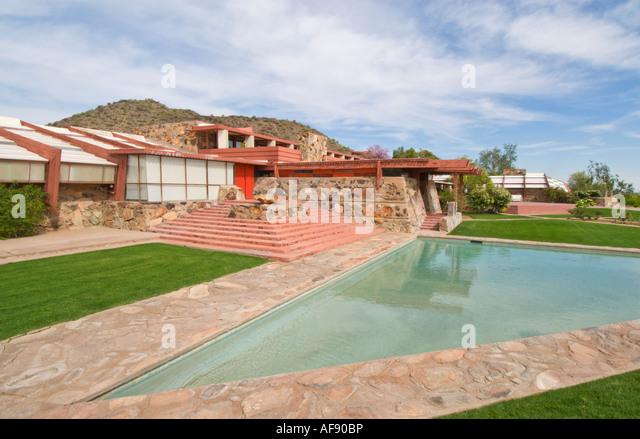 Arizona Scottsdale Taliesin West architect Frank Lloyd Wright winter home and studio - Stock-Bilder