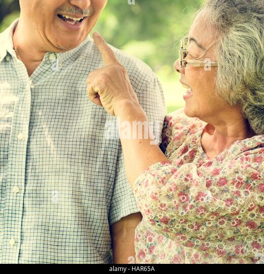 Senior Couple Relax Lifestyle Concept - Stock Image