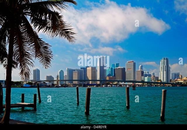 Miami Skyline, Florida - Stock Image