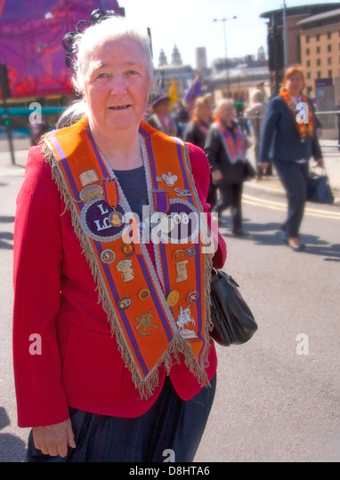 Liverpool Orange Lodge May 2012 Walking Day - more info at http://www.liverpool-lol.co.uk/ - Stock Image
