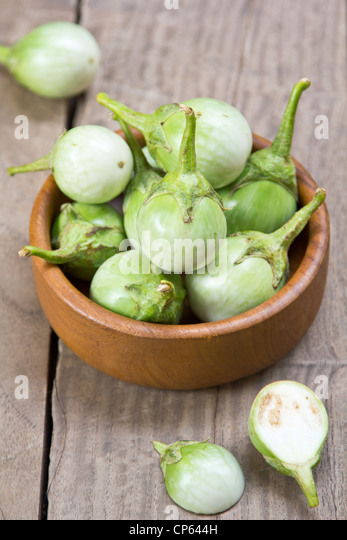 Green eggplants - Stock Image