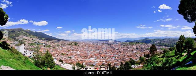 Quito old historic center, ecuador - Stock Image