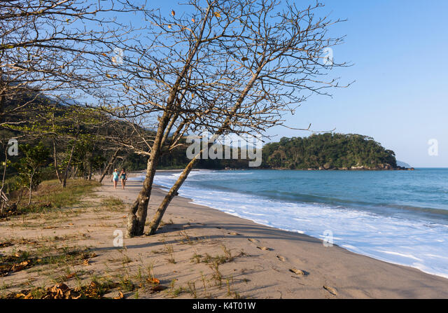 Castelhanos Beach at Ilhabela, São Paulo, Brazil - Stock Image