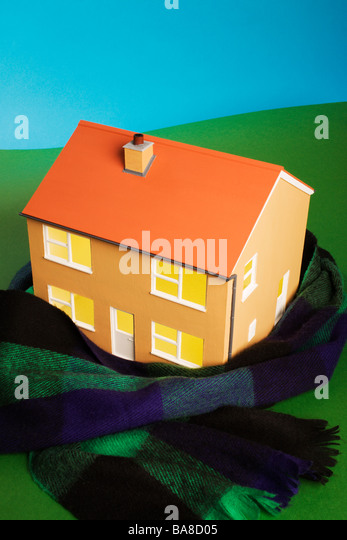 Keeping house warm concept. - Stock-Bilder