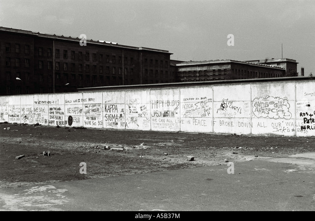 The Fall of the Berlin wall, 1989. - Stock Image