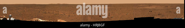 Mars Exploration Rover Spirit Mission, Rocky Surface of Mars - Stock Image