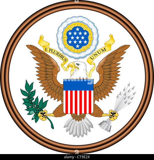 Coat of arms of the United States of America. - Stock Image