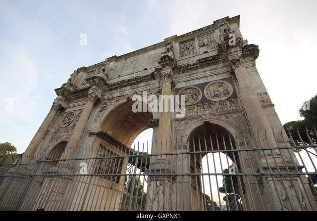 The famous Arch of Costantin, Arco di Costantino Roma, Rome, Italy, trave - Stock Image